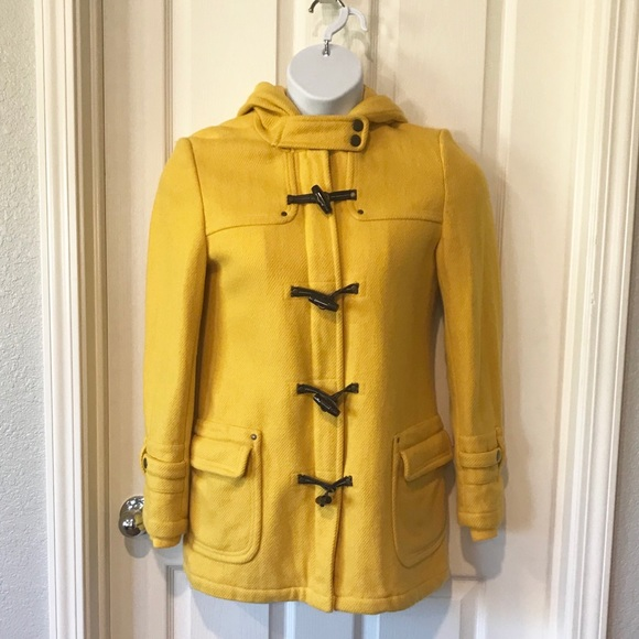 American Eagle Outfitters Jackets & Blazers - American Eagle Wool Blend Long Pea Coat Yellow Med